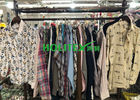 Popular Mens Used Clothing Cotton Material Second Hand Mens Shirts Long Sleeves